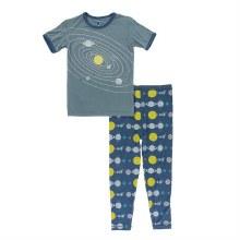 Kickee Pants Short Sleeve Pajama Set in Twilight Planets