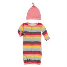 Zoology Gown Converter & Hat Set Biology Stripe 0-3
