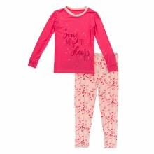 First Day of School Pajama Set Peach Blossom Music Class