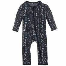 First Day of School Print Coverall Deep Space Math