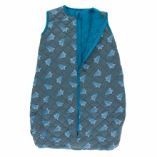 Kickee Pants Quilted Sleeping Bag Lined Paper Airplanes/Cerulean Blue