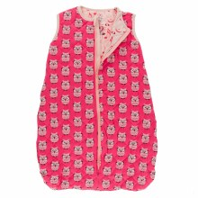 Kickee Pants Quilted Sleeping Bag Taffy Wise Owls/Peach Music Class