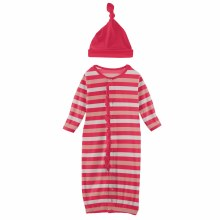First Day of School Ruffle Gown Converter & Hat Set Hopscotch Stripe