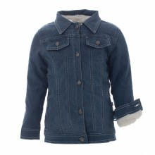 County Fair Denim Jacket with Sherpa Lining