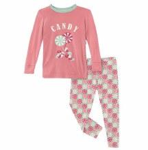 County Fair Pajama Set- Pistachio Candy