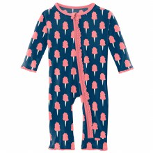 County Fair Coverall- Navy Cotton Candy