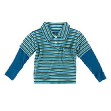 Kickee Pants Double Layer Polo Boys Anniversary Stripe 2t