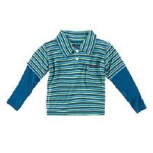 Kickee Pants Double Layer Polo Boys Anniversary Stripe 4t