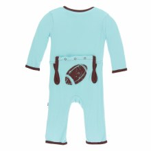 Kickee Pants Applique Coverall in Shining Sea Football 18-24