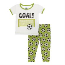 Kickee Pants Pajamas in Meadow Soccer 2T