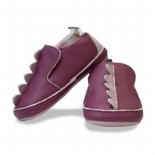 Kickee Pants Leather Soft Sole Scales Amethyst 3-6