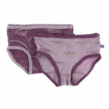 Kickee Pants Boxer Briefs Set in Cooksonia & Shell Fossils