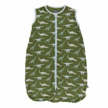 Kickee Pants Print Lightweight Sleeping Bag in Moss Sauropods