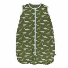 Kickee Pants Print Lightweight Sleeping Bag in Moss Sauropods