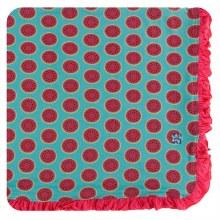 Kickee Pants Botany Print Ruffle Toddler Blanket  Neptune Watermelon