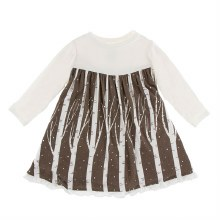 Kickee Pants Print Long Sleeve Swing Dress in Falcon Snow