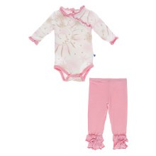 Kickee Pants Oceanography Long Sleeve Kimono Outfit Set 3-6m