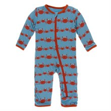 Kickee Pants Oceanography Print Coverall Blue Moon Crab Family 9-12m