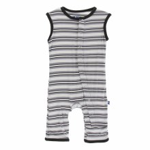 Kickee Pants India  Print Tank Romper  India Pure Stripe