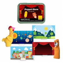 kittd Puppet Show On-The-Go Puppet Play Set