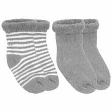 Kushies Newborn Terry Socks Grey