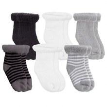 Kushies Terry Socks 6 pk Grey
