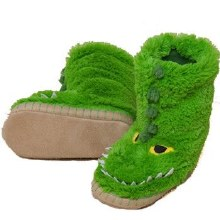 Little Blue House Fuzzy Slouch Slippers - Alligator