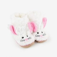 Little Blue House Fuzzy Slouch Slippers - Bunny