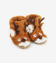 Little Blue House Fuzzy Slouch Slippers - Fox