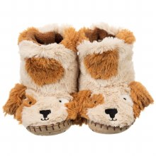 Little Blue House Fuzzy Slouch Slippers - Puppy