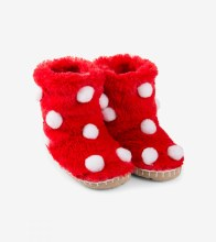 Little Blue House Fuzzy Slouch Slippers - Snowballs