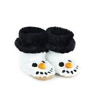 Little Blue House Fuzzy Slouch Slippers - Snowman
