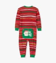 Little Blue House Holiday Stripe Union Suit 3-6m