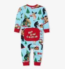 Little Blue House Wild About Christmas Union Suit 3-6m