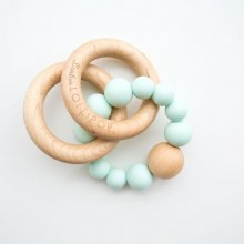 LouLou Lollipop Bubble Wood & Silicone Teether