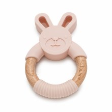 Loulou Lollipop Bunny Silicone & WoodTeether