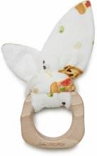 Loulou Lollipop Bunny Ear Teether- Pizza