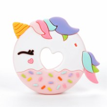 Loulou Lollipop Unicorn Donut Silicone Teether
