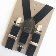 Little Mister Black Suspenders S