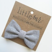 Little Mister Grey Bow Ties M