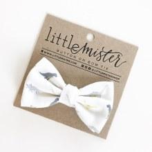Little Mister White Dinosaur Bow Ties L