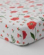 Little Unicorn Cotton Muslin Crib Sheet Summer Poppy