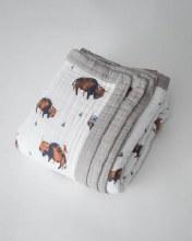Little Unicorn Big Kid Muslin Quilt - Bison