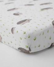 Little Unicorn Cotton Muslin Cribsheet Hedgehogs
