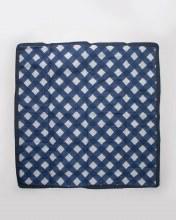 Navy Plaid 5x5 Outdoor Blanket