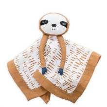 lulujo Muslin Sloth Lovie