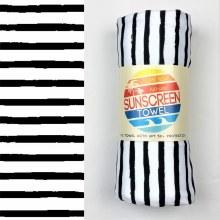 Luv Bug Sunscreen Towel Full Size- Black Stripe