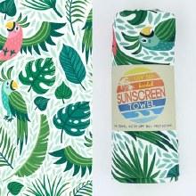 Luv Bug Sunscreen Towel W/Hood- Parrots