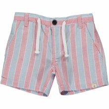Me & Henry Blue & Red Striped Shorts