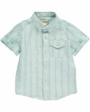 Me & Henry Green/Blue Striped Woven Shirt Shirt